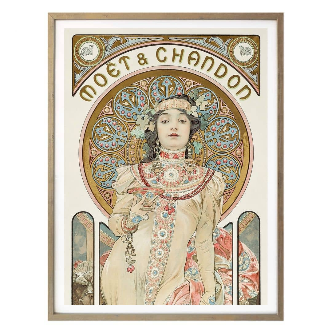 Poster Mucha Mo 235 T And Chandon Dry Imperial Panorama