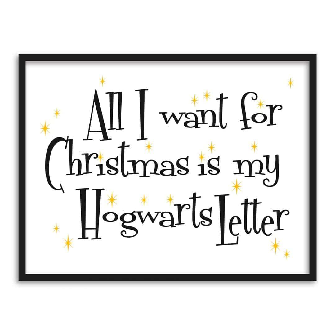 Poster mit Bilderrahmen - Hogwarts Letter