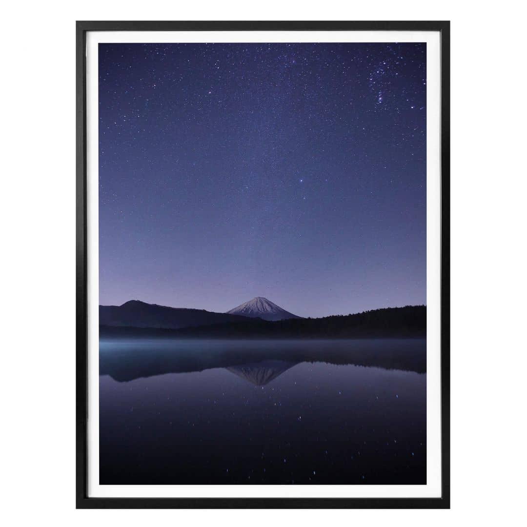 Poster Nachthimmel Blau Nacht Wall Art De