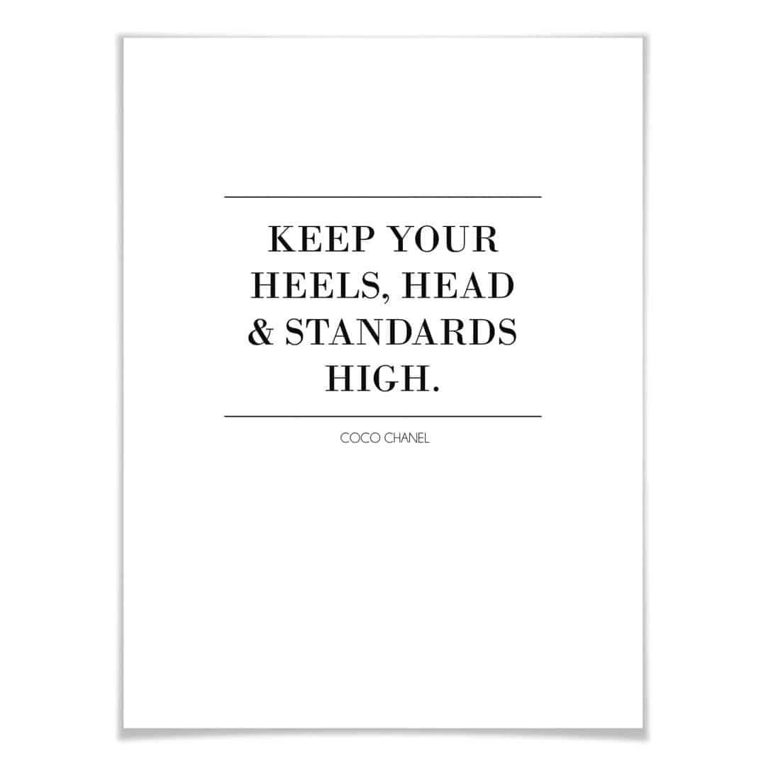 Poster Keep your standards high
