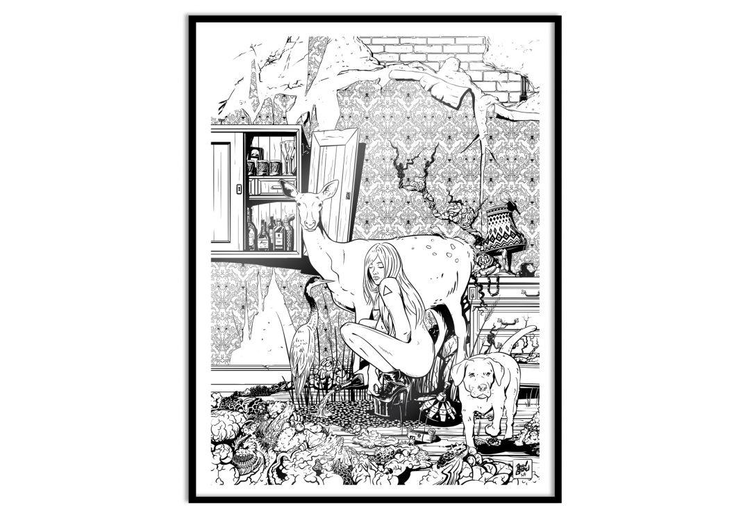 Poster mit Bilderrahmen - Drawstore - In the Livingroom