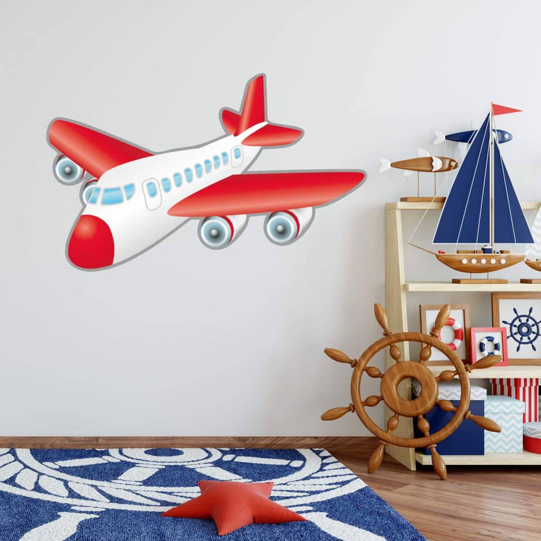 airplane wall sticker. Black Bedroom Furniture Sets. Home Design Ideas