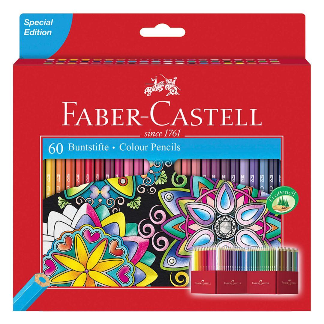60 farbstifte faber castell im kartonetui  wallartde