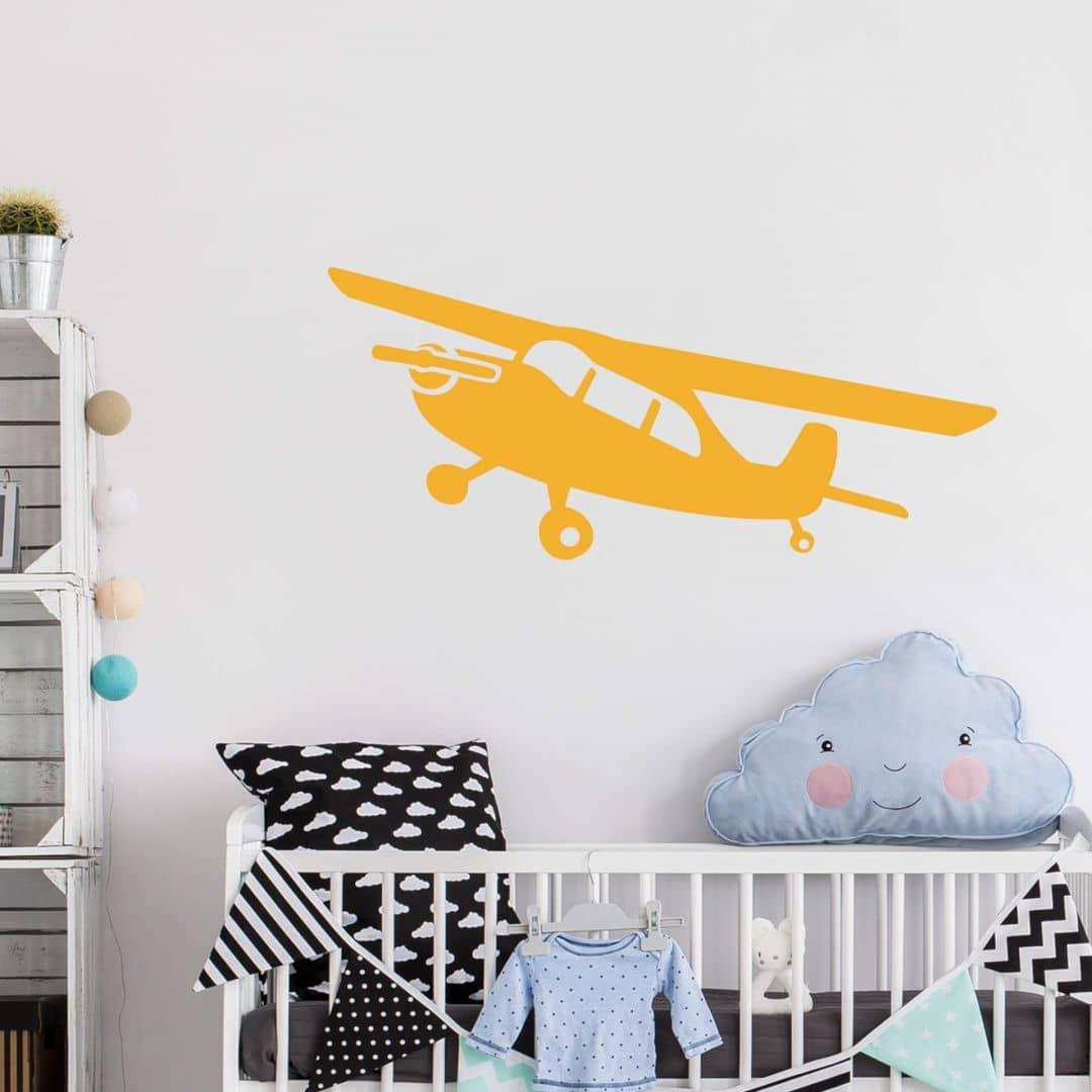 wandtattoo propeller flugzeug ein propellerflugzeug als wandtattoo f r jungs wall. Black Bedroom Furniture Sets. Home Design Ideas