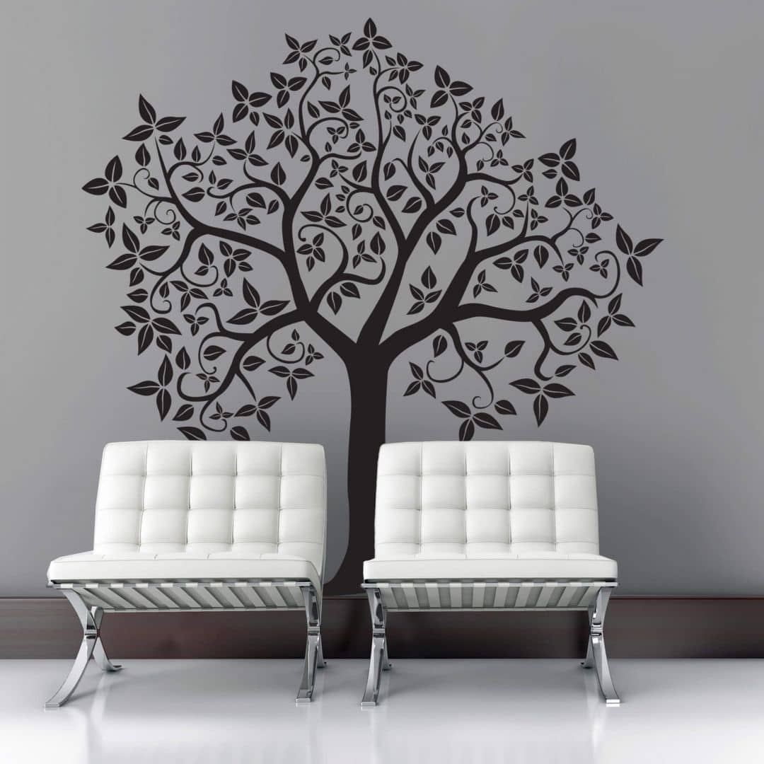 wandtattoo baum 2 bezaubernder baum als wandtattoo wall. Black Bedroom Furniture Sets. Home Design Ideas