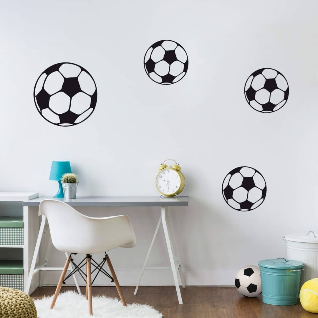 sticker mural ballon de foot wall. Black Bedroom Furniture Sets. Home Design Ideas