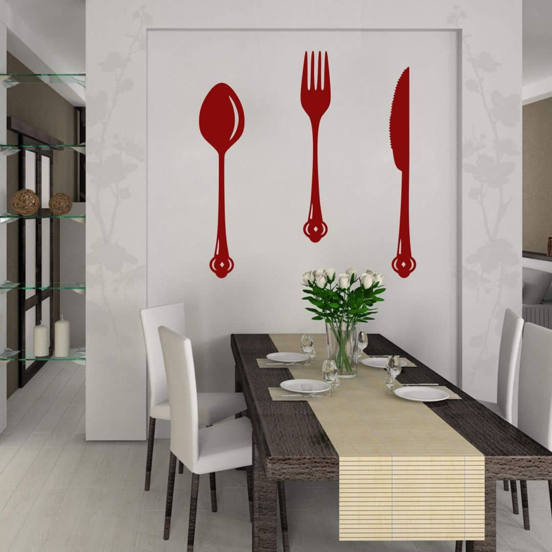 Adesivo murale posate - Adesivi per la cucina ...