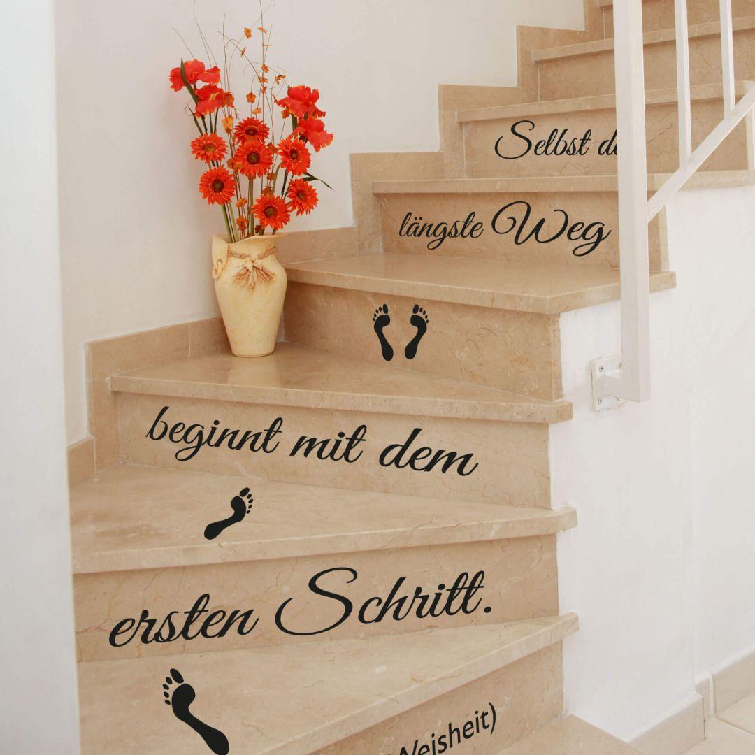 Stufen-Wandtattoo Selbst der längste Weg...