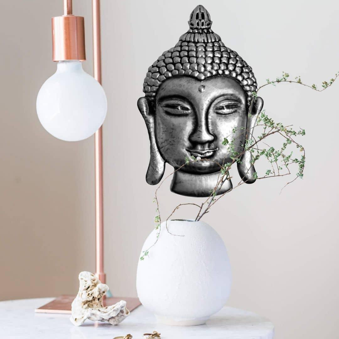 Wandtattoo metallic buddha wall - Wandtattoo buddha ...