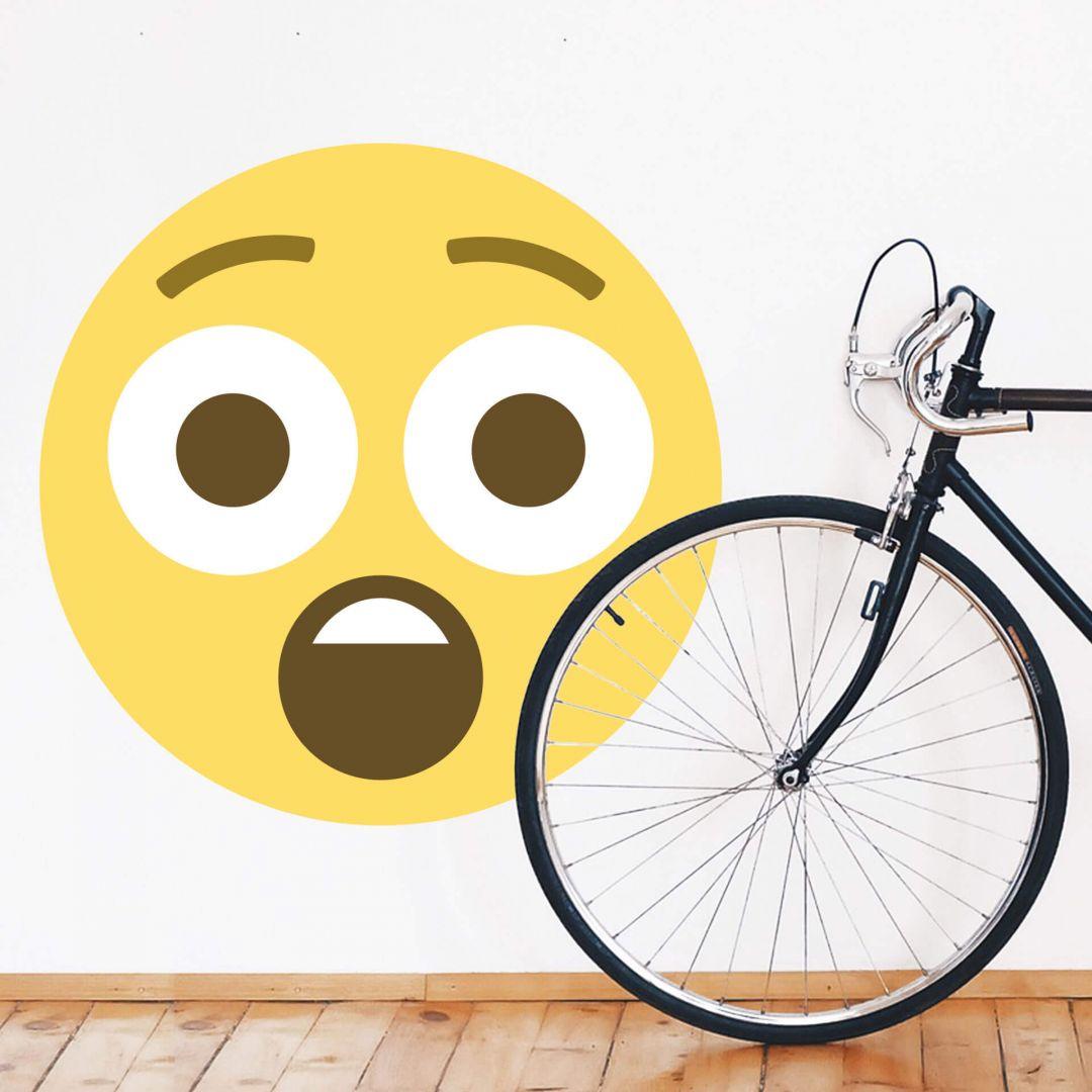 Wall Sticker Emoji Astonished Face