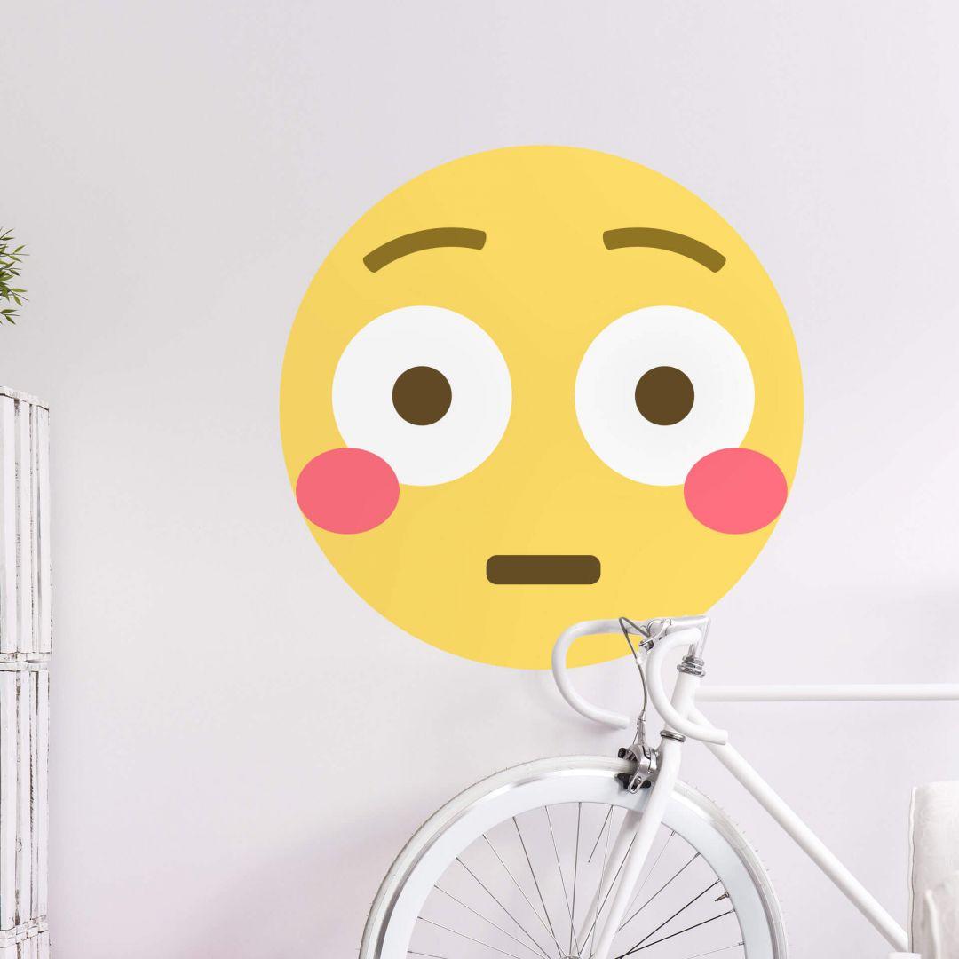 Wandtattoo Emoji Flushed Face