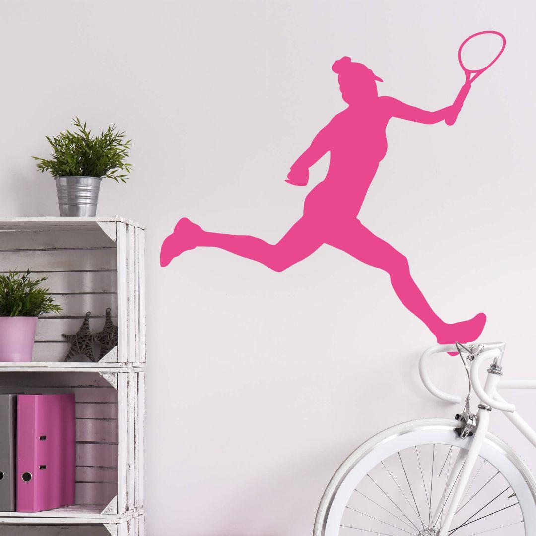 Wandtattoo Tennisspielerin 02