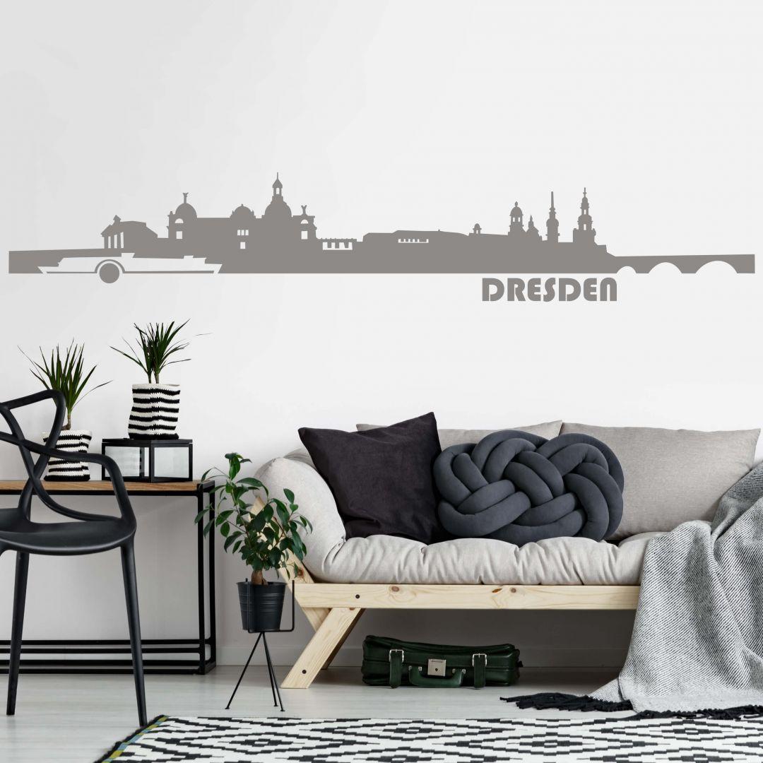 wandtattoo dresden skyline sch ner wandaufkleber von dresden wall. Black Bedroom Furniture Sets. Home Design Ideas