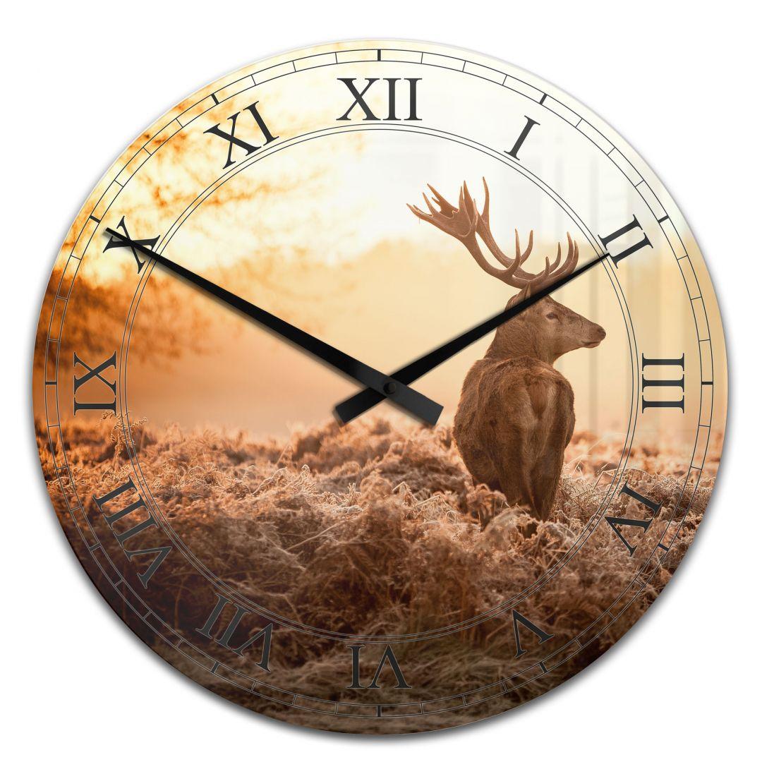 Acrylic Wall Clock Majestic Deer