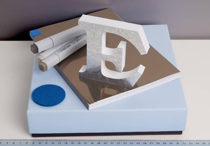Dekobuchstaben 10 cm Buchstabenhöhe - Eisblume