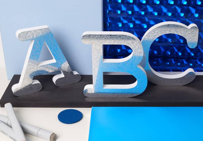 15 cm Deco Letters - Ice Flowers 3D letter