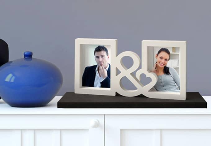 Decoratieletters   3D Fotolijstje & Hart
