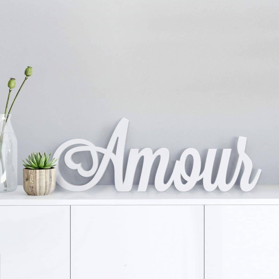 3D Amour 3D letter