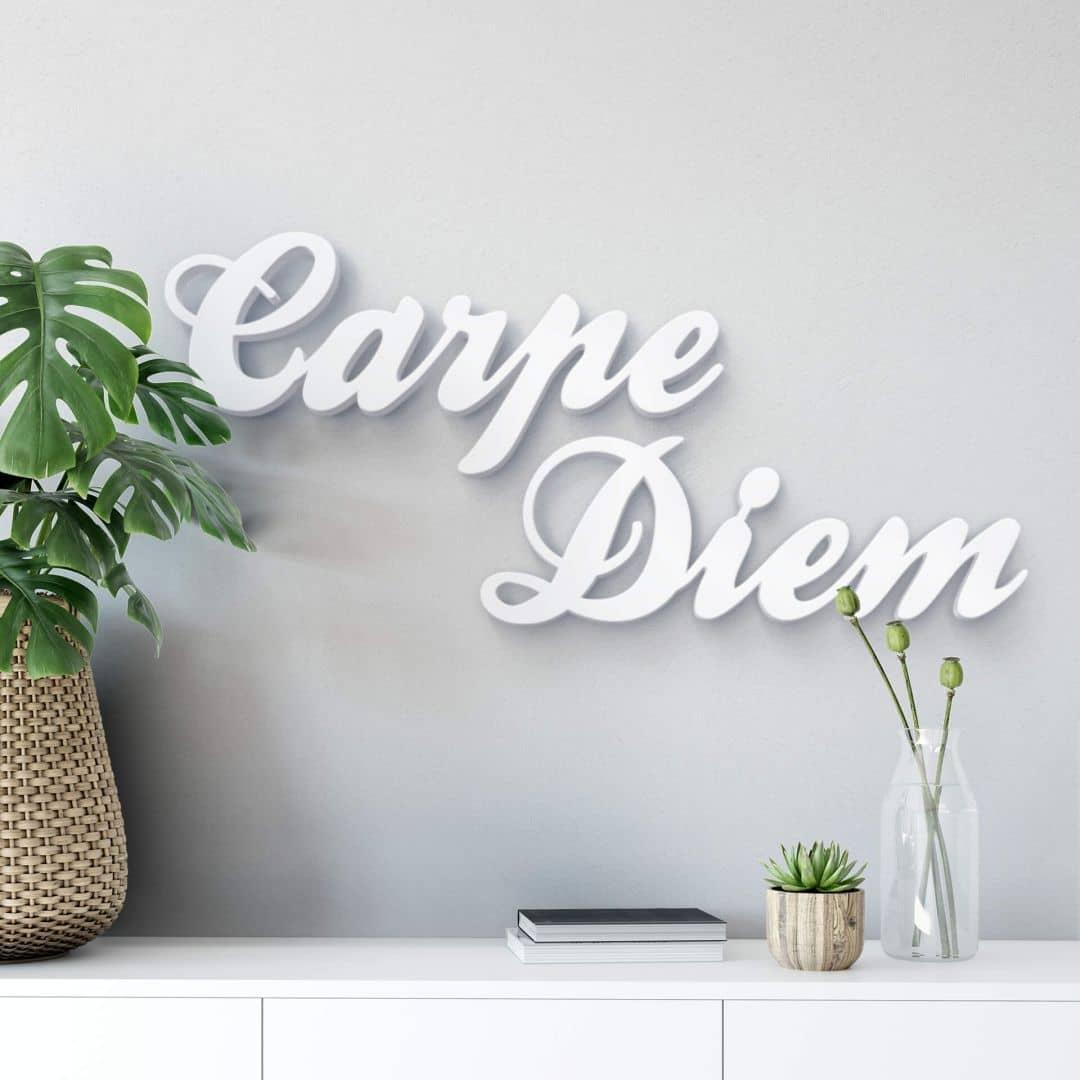 Decoratieletters   3D Carpe Diem