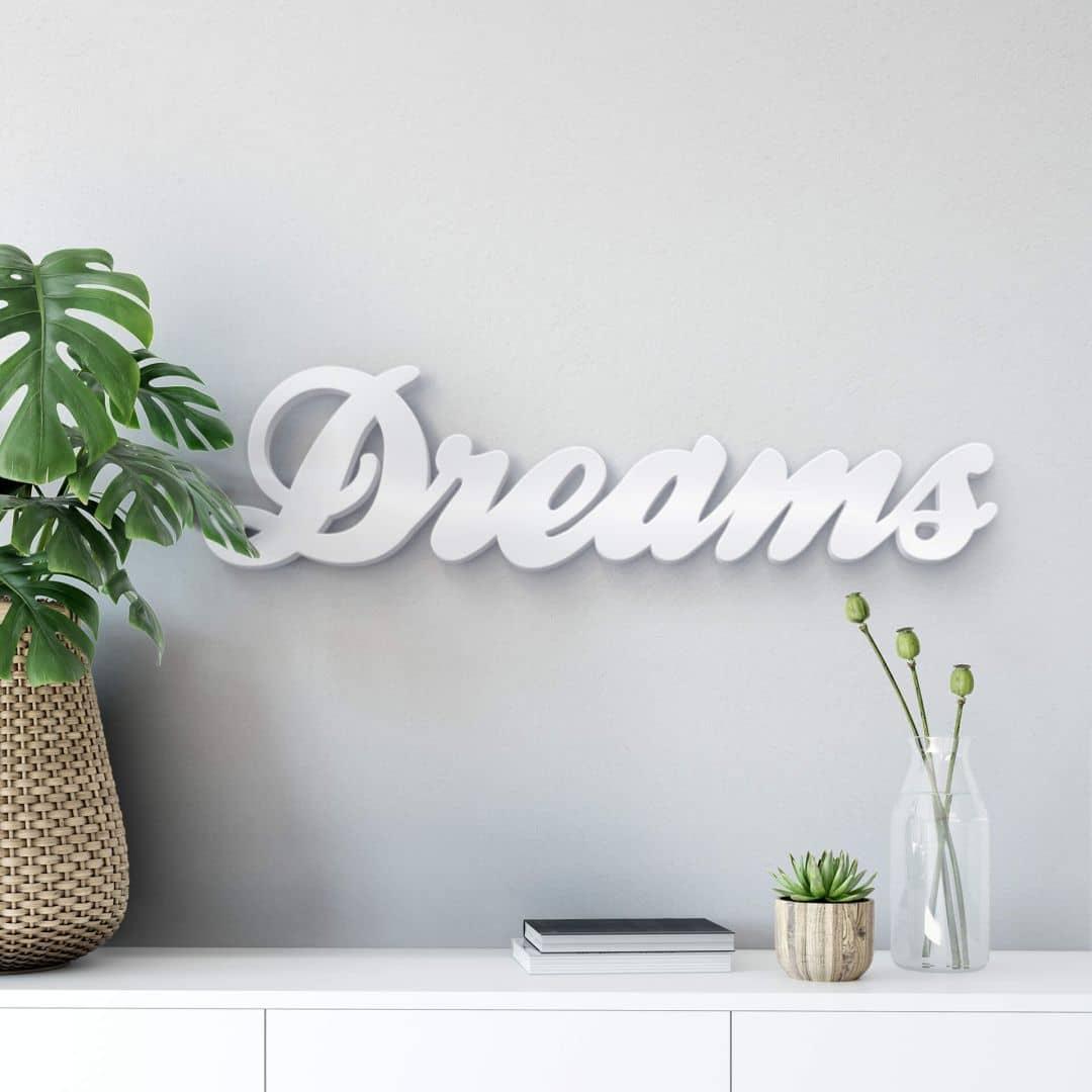 Decoratieletters   3D Letters 'Dreams' 2
