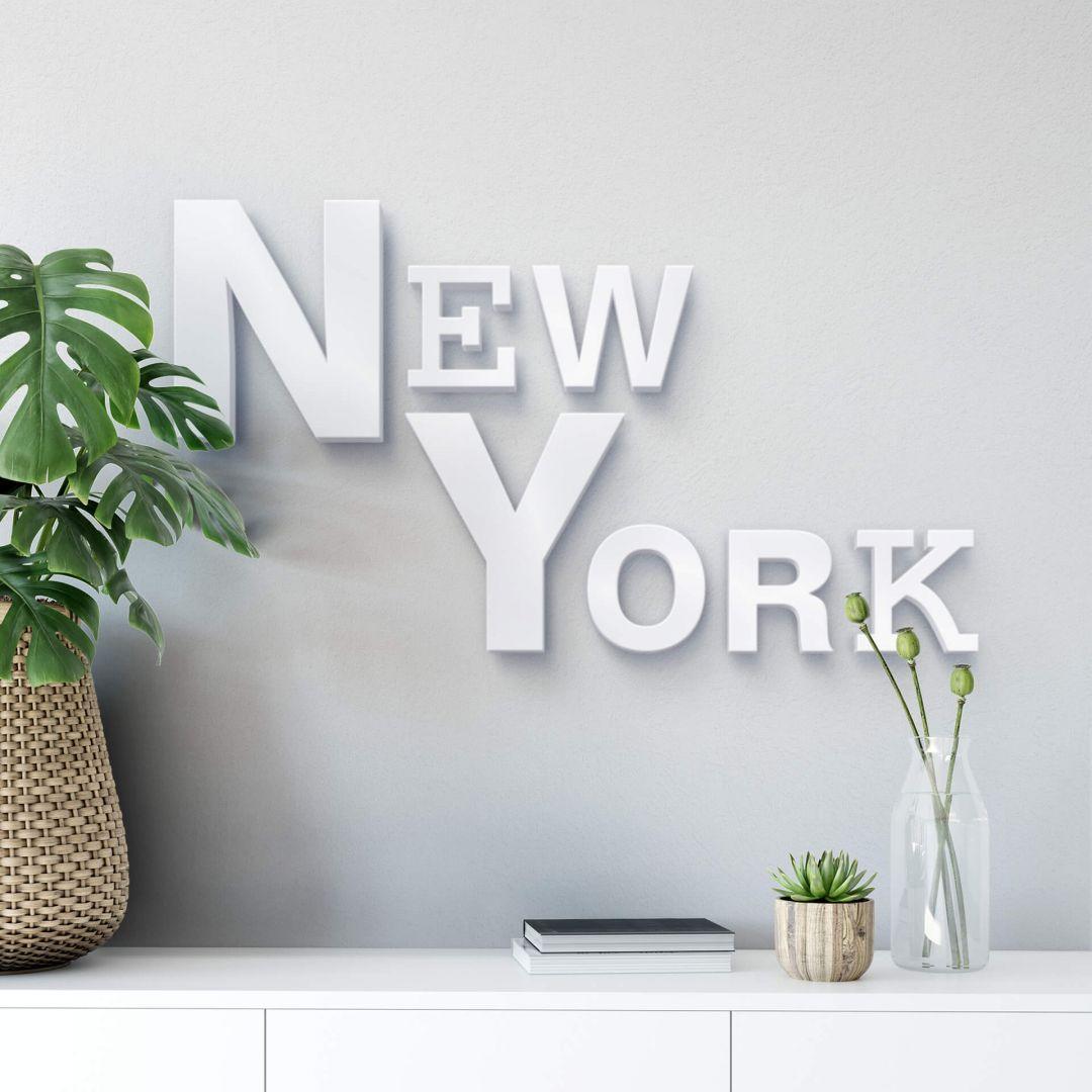 3D New York mixed 3D letter