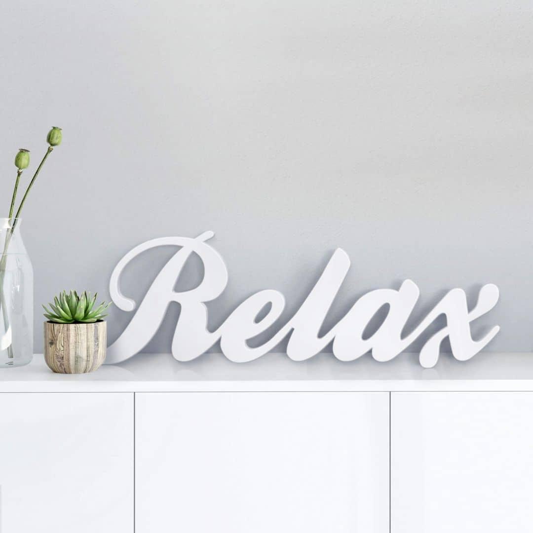 Decoratieletters   3D Decoratieletters 'Relax'