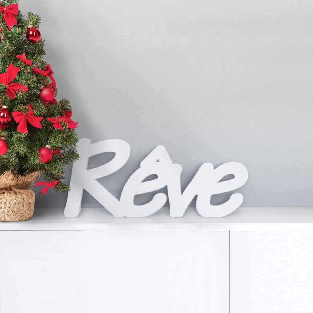 Lettres d coratives 3d r ve wall for Meuble 70x30