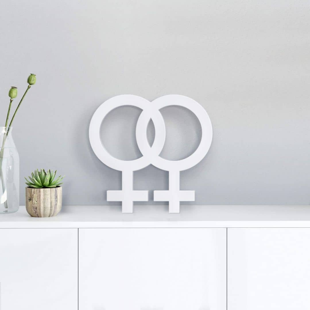 3D Decoratie Lesbisch Symbool