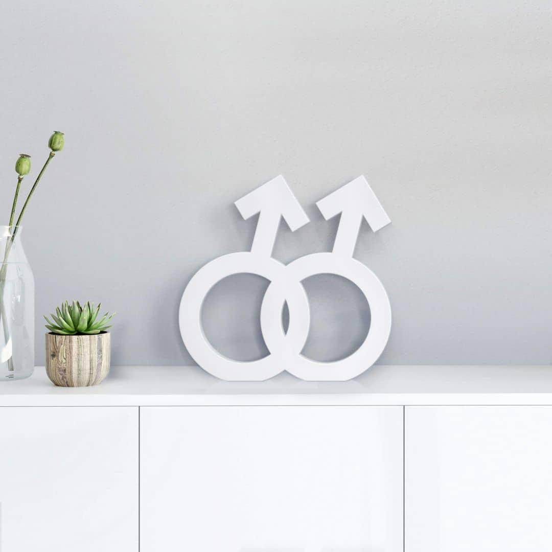 3D Decoratie Homo Symbool