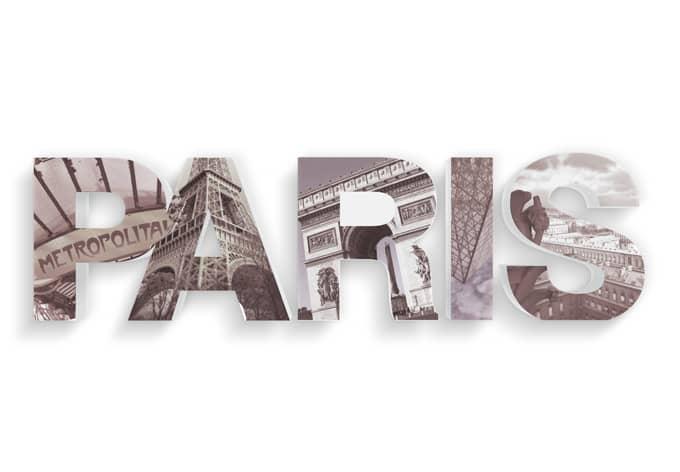 Decoratieletters   3D PARIS Letters