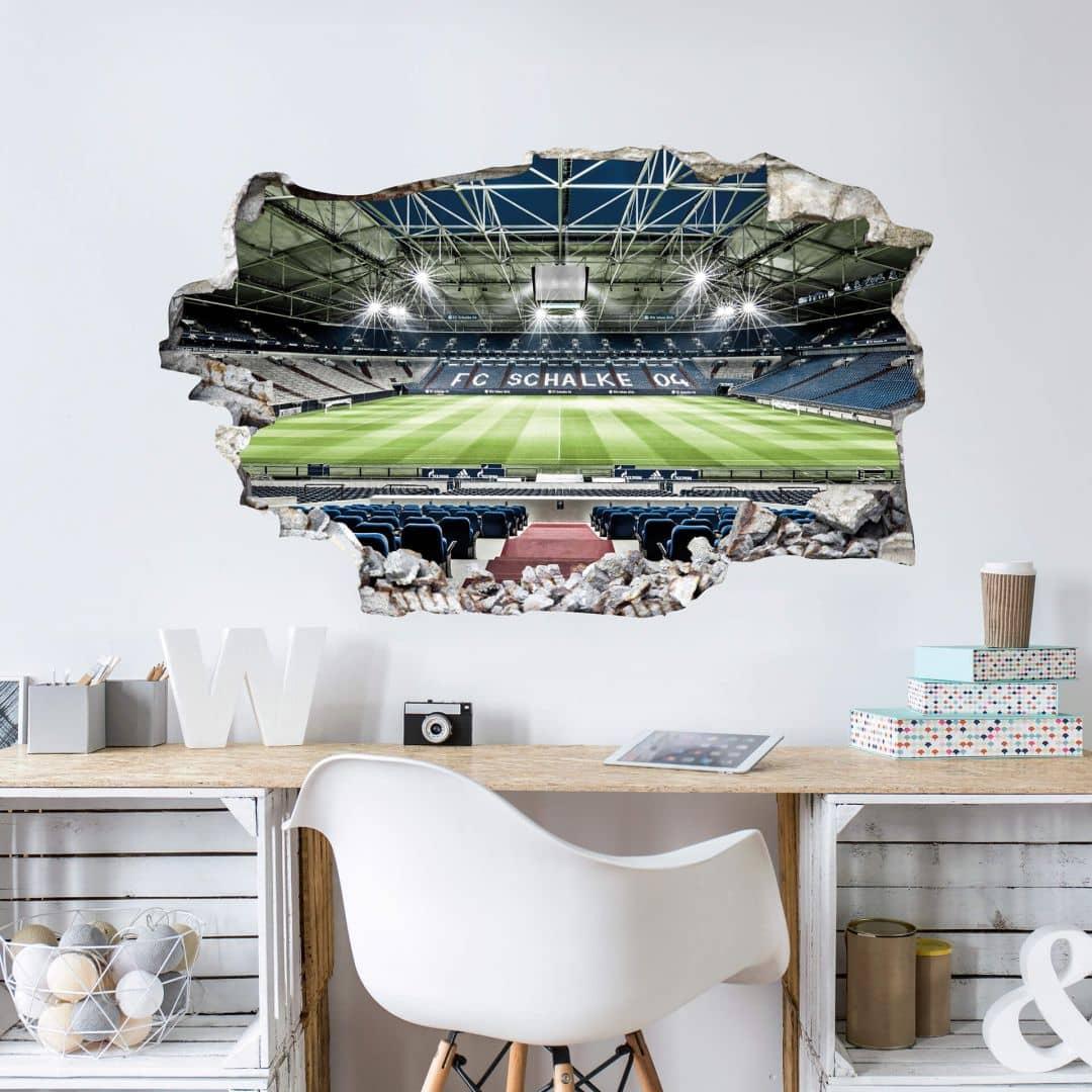 3D Muursticker Schalke 04