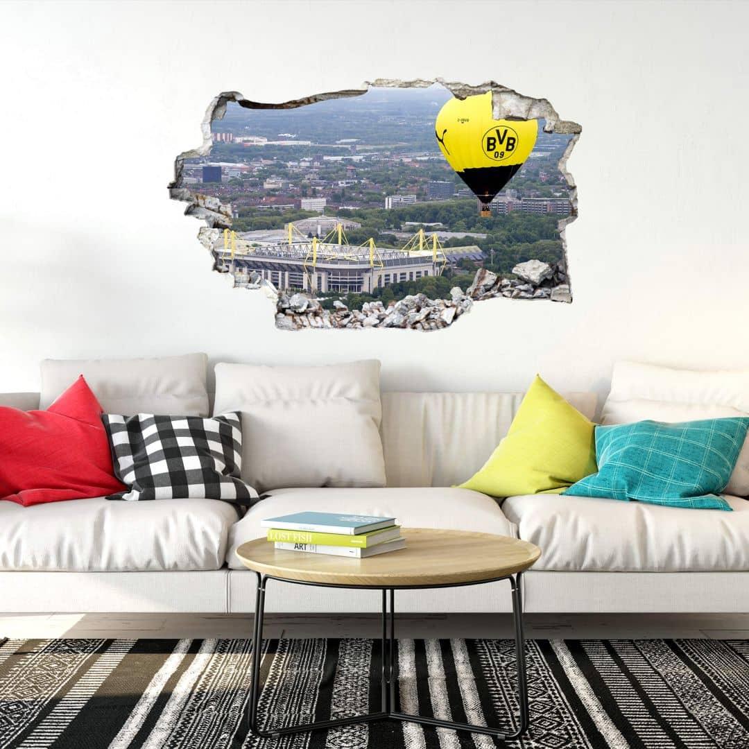3D Wandtattoo BVB Heißluftballon | wall-art.de