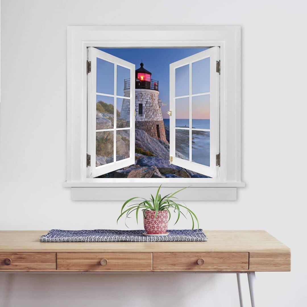 Trompe L Oeil Wall Sticker Lighthouse Wall Art Com