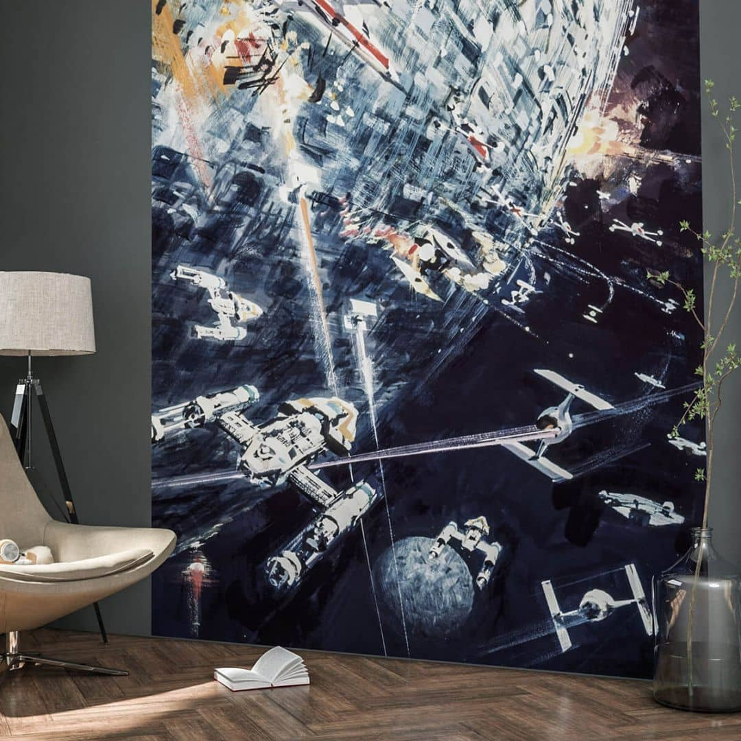 komar fototapete star wars classic dogfight 012 dvd2 wall. Black Bedroom Furniture Sets. Home Design Ideas
