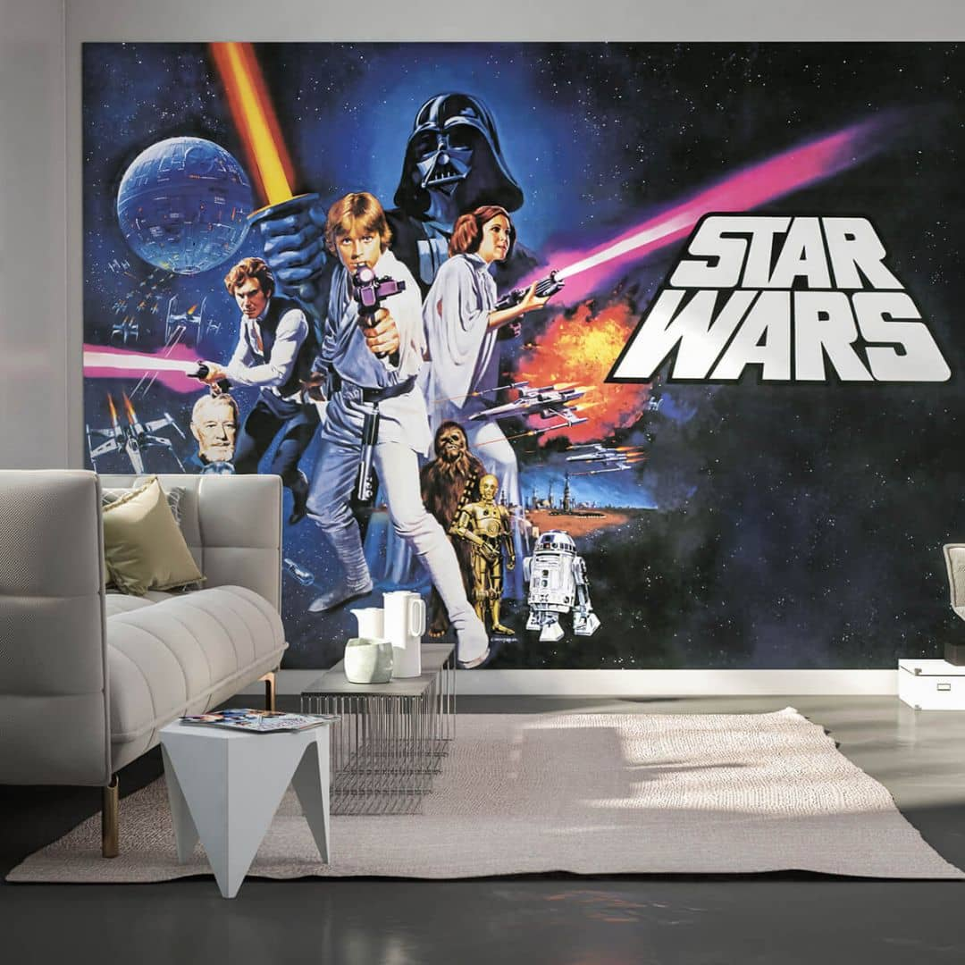 komar fototapete star wars poster classic 1 026 dvd4 wall. Black Bedroom Furniture Sets. Home Design Ideas