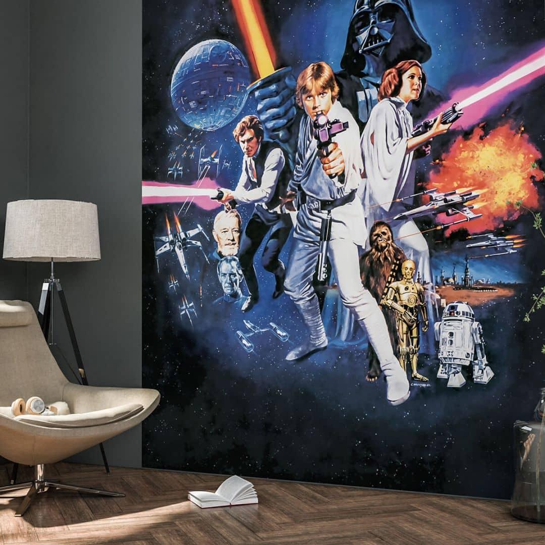 komar fototapete star wars poster classic 1 026 dvd2 wall. Black Bedroom Furniture Sets. Home Design Ideas