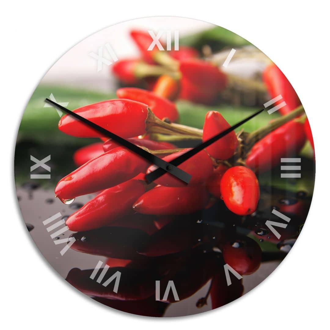 Acrylic glass Clock Exotic Spice