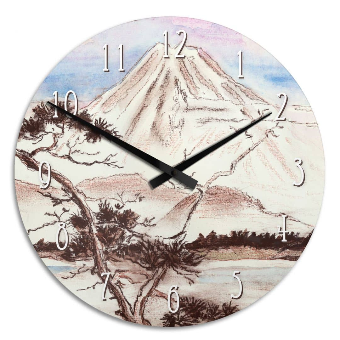 Acrylglas wanduhr toetzke asian landscape wall - Landscape wanduhr ...