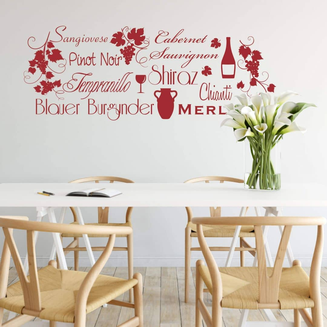 Adesivo murale - Selezione di vini rossi
