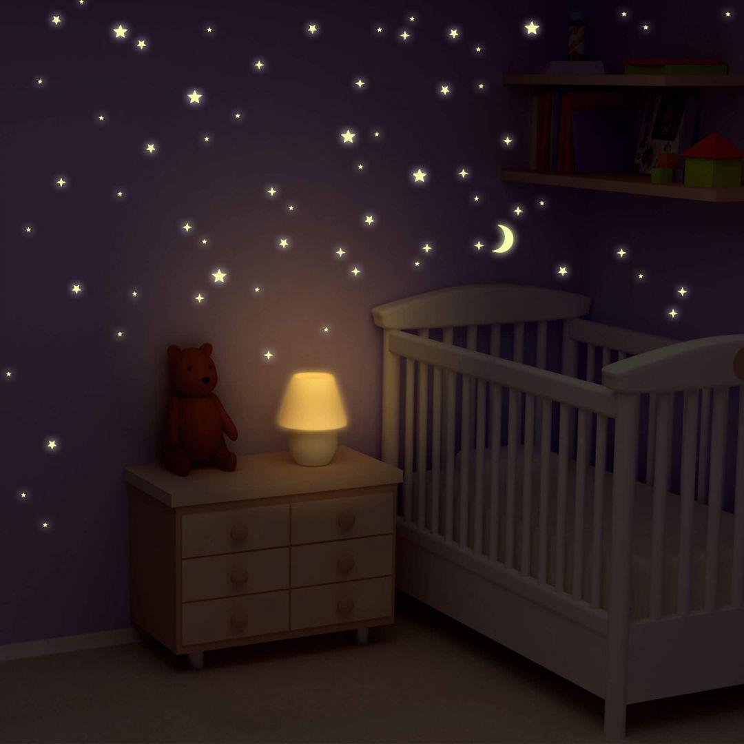 sterrenhemel stickers glow in the dark wall. Black Bedroom Furniture Sets. Home Design Ideas