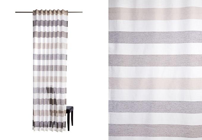 Homing Vorhang mit verdeckten Schlaufen braun