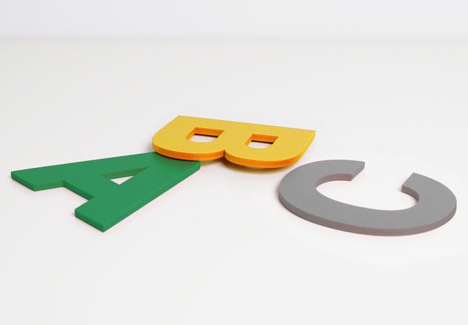 Dekobuchstaben 10 cm Buchstabenhöhe bunt