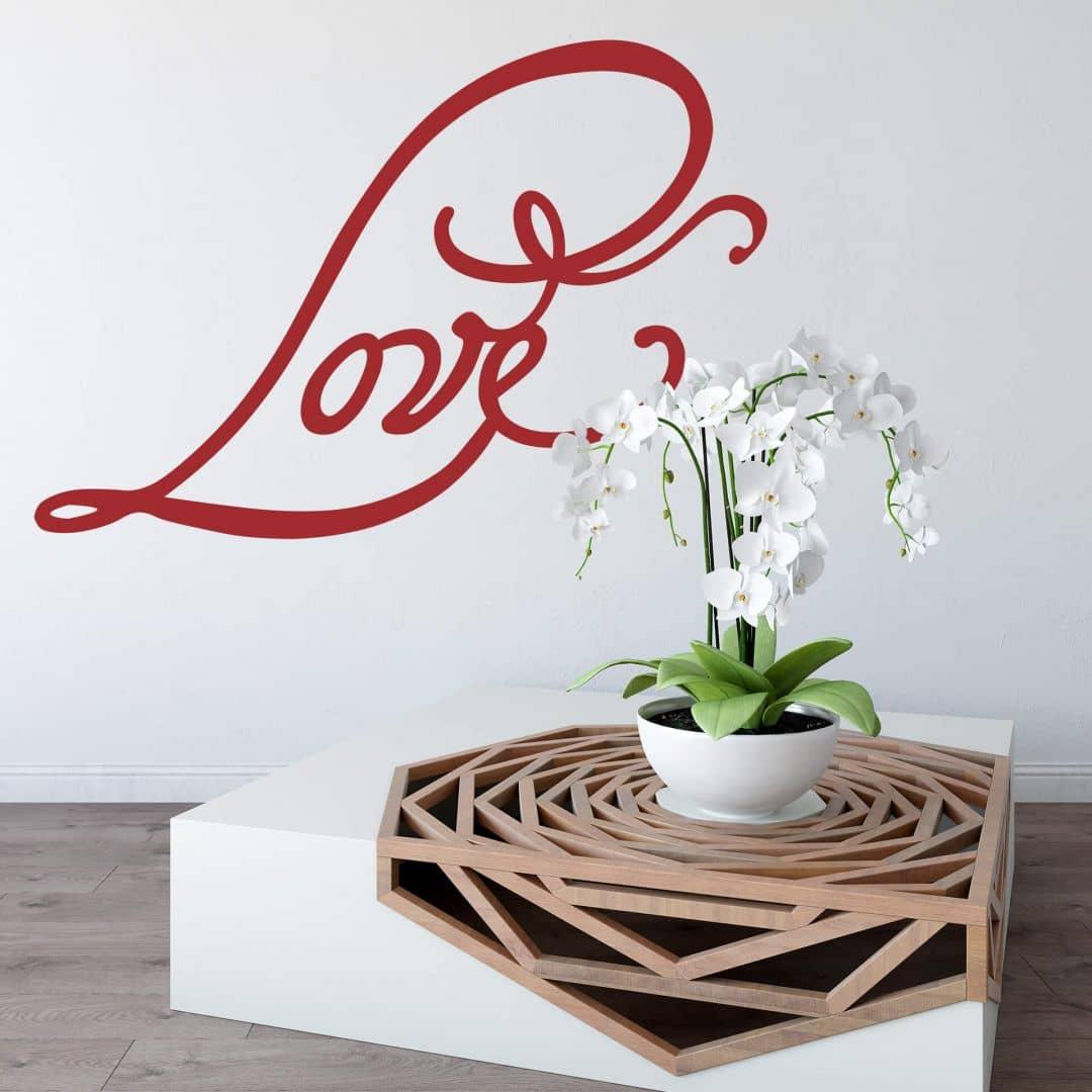 romantisches wandtattoo love 4 wall. Black Bedroom Furniture Sets. Home Design Ideas