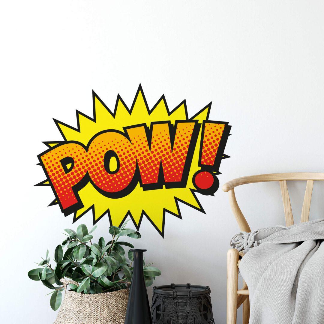 wandtattoo comic soundeffect  pow  wallartde