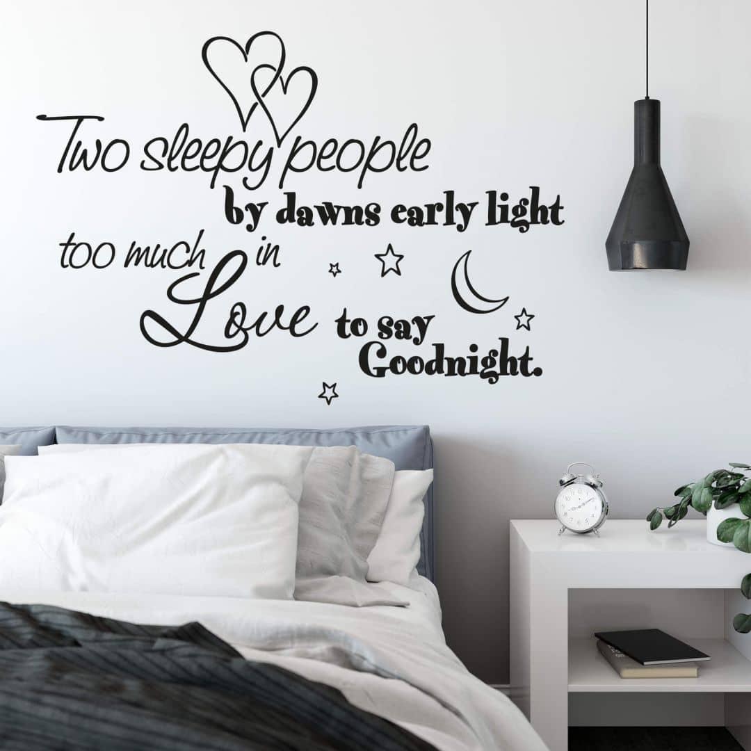 Adesivo murale - Two sleepy people...