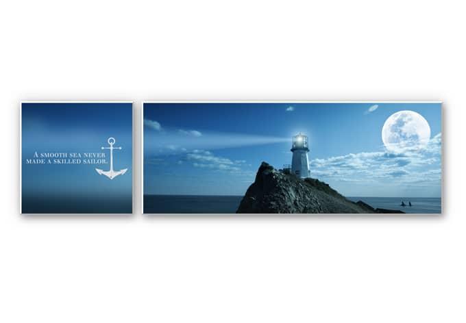 Wandbild A smooth Sea (2-teilig)