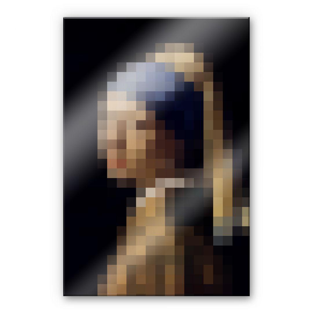 acrylglasbild pixelart vermeer das m dchen mit dem perlenohrring wall. Black Bedroom Furniture Sets. Home Design Ideas