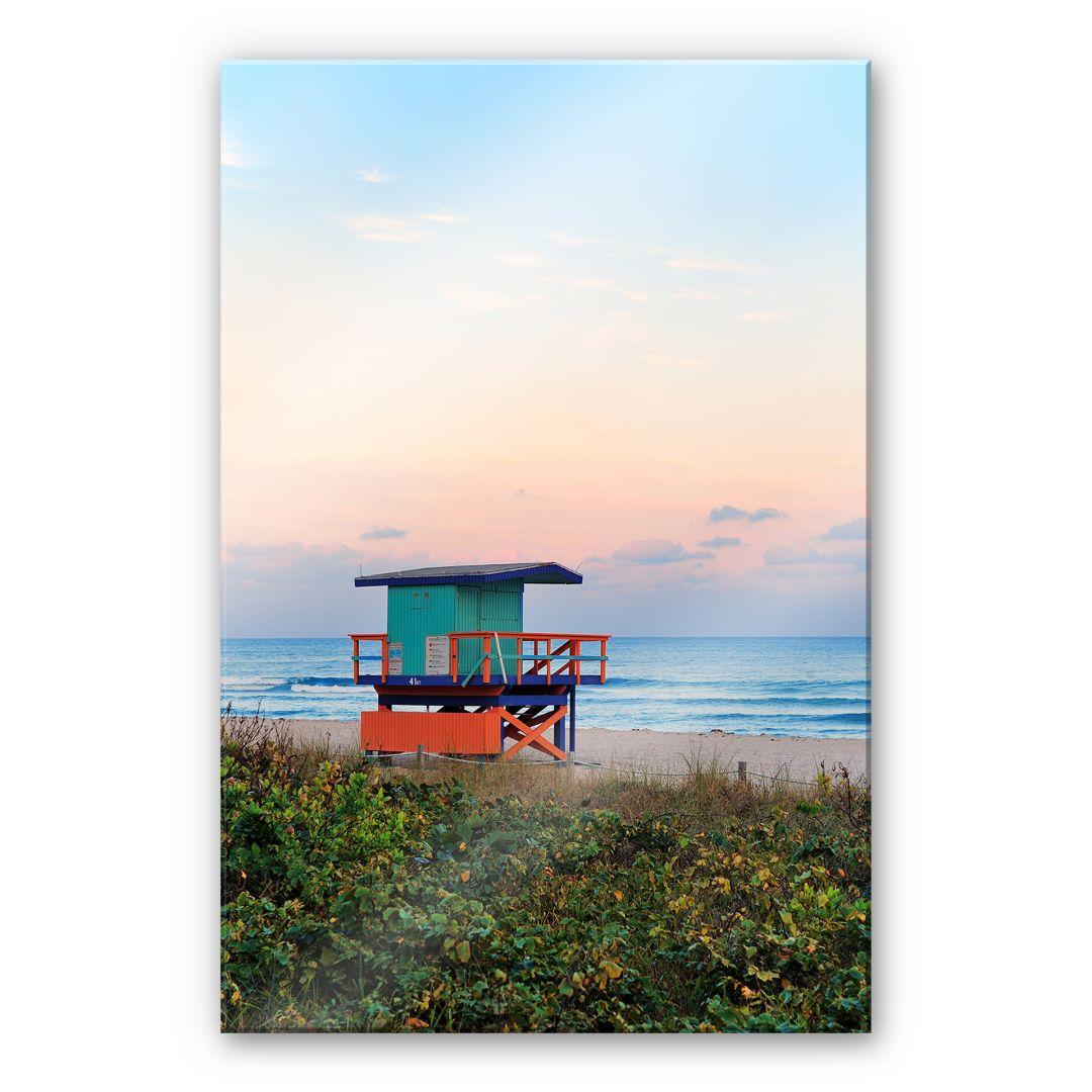 XXL Wandbild Miami Rettungsschwimmerhäuschen