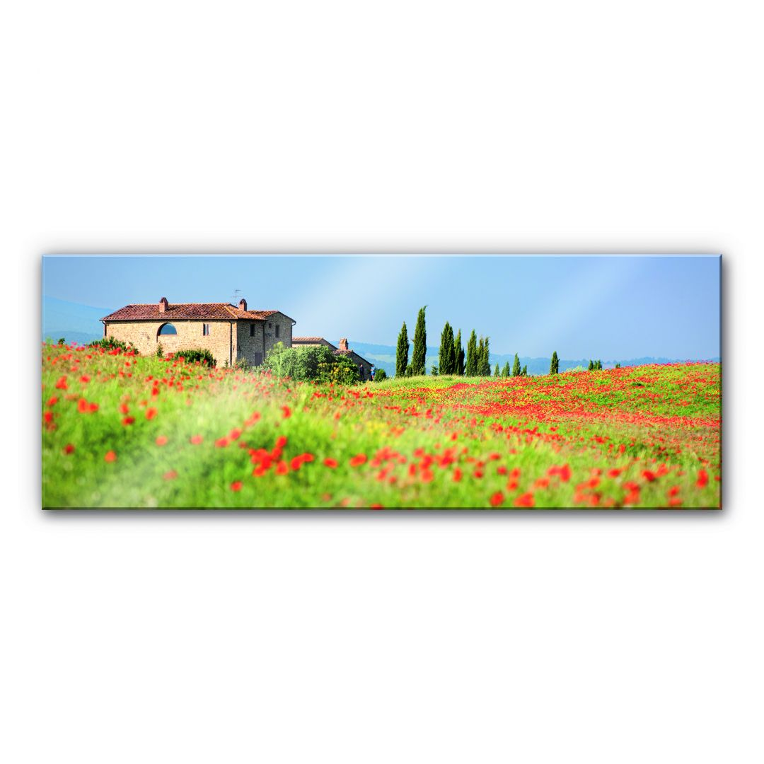 Acrylglasbild Toskana - Panorama