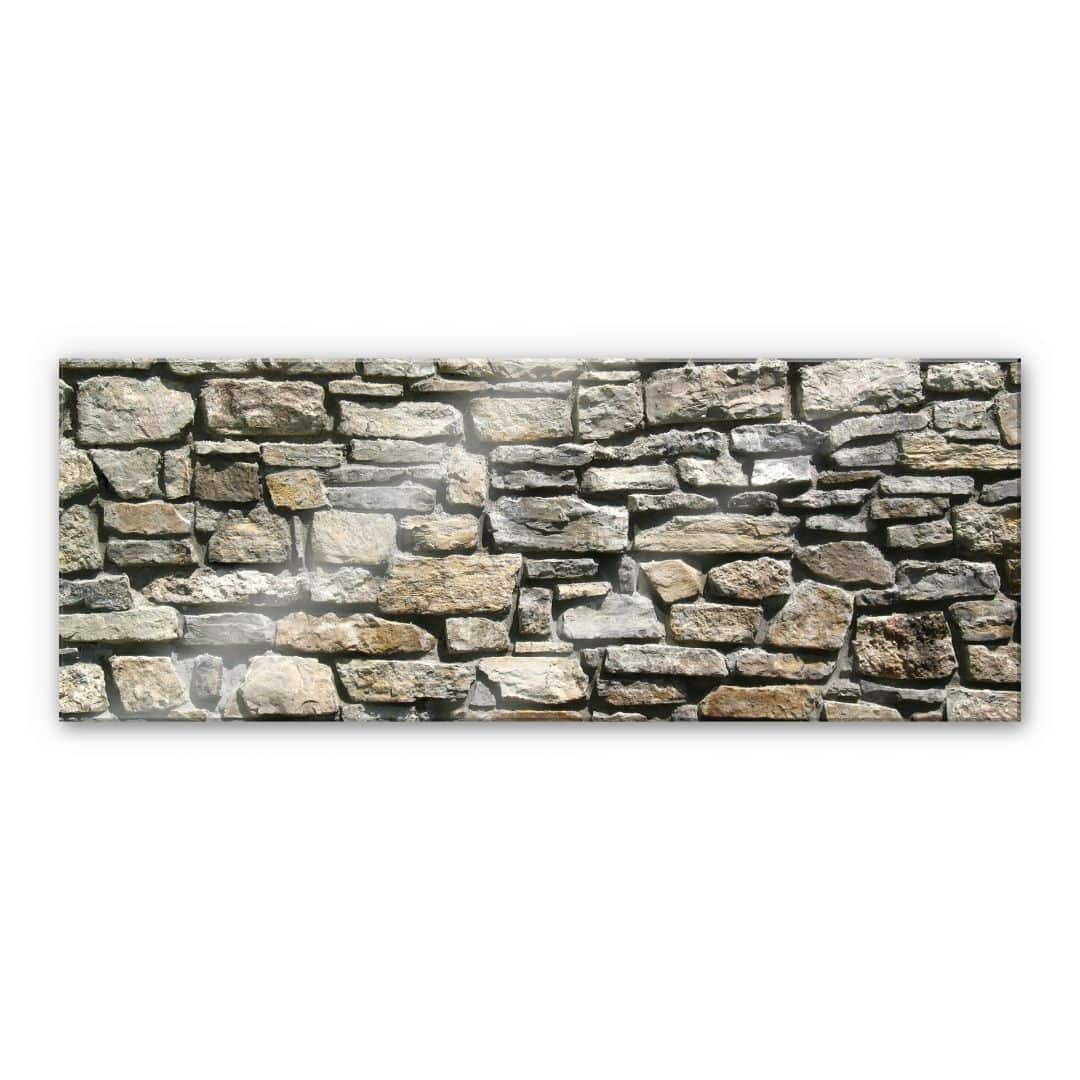 acrylglasbild natursteinmauer panorama steine f r die wand wall. Black Bedroom Furniture Sets. Home Design Ideas